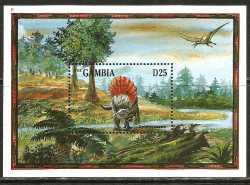 Gambia, Prehistoric animals, 1995, 1stamp