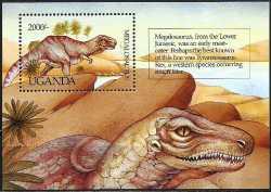 Uganda, Prehistoric animals, 1992, 1stamp
