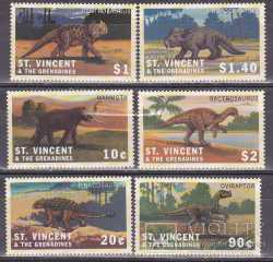 Saint Vincent and the Grenadines, Prehistoric animals, 6stamps