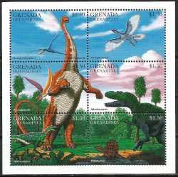 Grenada, Prehistoric animals, 6 stamps