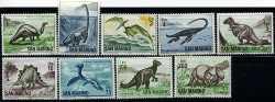 San Marino, Prehistoric animals, 1965, 9stamps