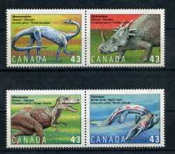 Canada, Prehistoric animals, 1993, 4 stamps