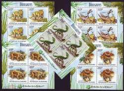 Burundi, Prehistoric animals, 2012, 20stamps