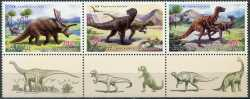 North Korea, Prehistoric animals, 2011, 3 stamps