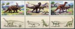 North Korea, Prehistoric animals, 2011, 3stamps