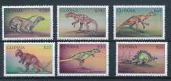Guyana, Prehistoric animals, 1998, 6stamps