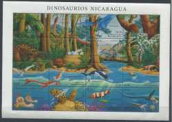 Nicaragua, Prehistoric animals, 1994, 16stamps