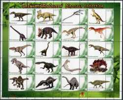 Thailand, Prehistoric animals, 2012, 30stamps