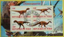 Доисторические животные, Чад, 2010, 4шт.