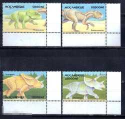 Mozambique, Prehistoric animals, 2002, 4stamps