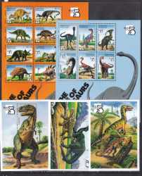 Saint Vincent and the Grenadines, Prehistoric animals, 1999, 17stamps