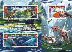 Guinea-Bissau, Prehistoric animals, 2015, 5stamps