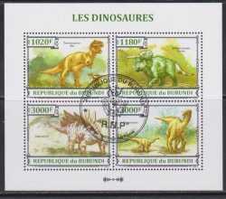 Burundi, Prehistoric animals, 2013, 4stamps
