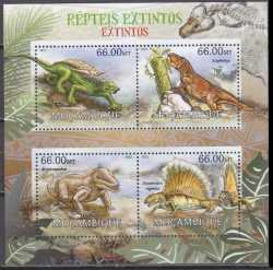 Mozambique, Prehistoric animals, 2012, 4stamps
