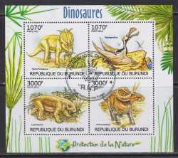 Burundi, Prehistoric animals, 2012, 4stamps