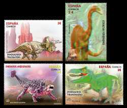 Spain, Prehistoric animals, 2015, 4 stamps