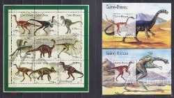 Guinea-Bissau, Prehistoric animals, 2001, 11stamps