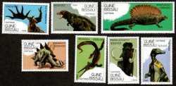 Guinea-Bissau, Prehistoric animals, 1989, 7stamps