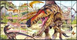 Tchad, Prehistoric animals, 2010, 4stamps