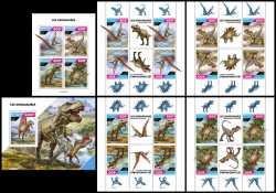 Tchad, Prehistoric animals, 2020, 21stamps