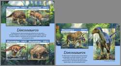 Mozambique, Prehistoric animals, 2019, 5stamps