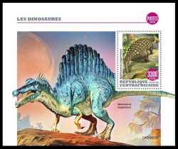 Central African Republic, Prehistoric animals, 2020, 1stamp