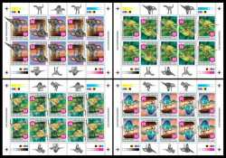 Central African Republic, Prehistoric animals, 2020, 40stamps