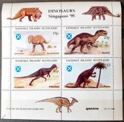 Scotland, Prehistoric animals, 1995, 4stamps