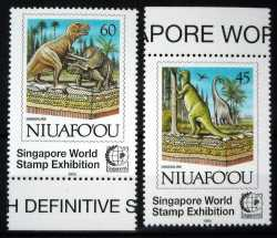 Niuafo'ou, Prehistoric animals, 1995, 3 stamps