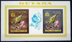 Guyana, Prehistoric animals, 1993, 6stamps