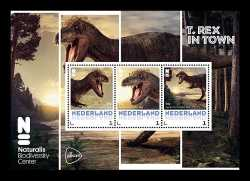 Netherlands, Prehistoric animals, 2016, 3 stamps