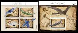 Liberia, Prehistoric animals, 2020, 5stamps