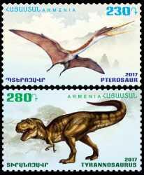 Armenia, Prehistoric animals, 2017, 2stamps