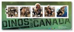 Canada, Prehistoric animals, 2015, 5 stamps