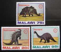 Malawi, Prehistoric animals, 1993, 3stamps