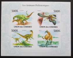 Comoros, Prehistoric animals, 2009, 4stamps (imperf.)