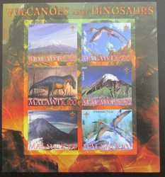 Malawi, Prehistoric animals, 2007, 6stamps (imperf.)
