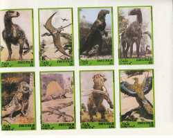 Доисторические животные, Дофар, 1980, 8шт. (б/з)