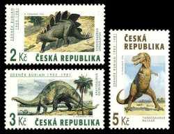 Prehistoric animals, Czech Republic, 1994, 3stamps