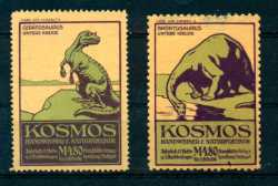 Germany, Prehistoric animals, 2 stamps