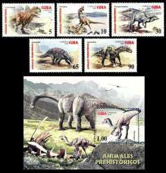 Prehistoric animals, Cuba, 2005, 6stamps