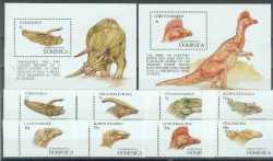 Prehistoric animals, Dominica, 1992, 10stamps