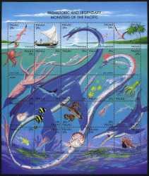 Prehistoric animals, Palau, 1993, 25stamps