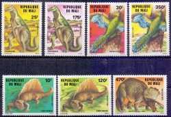 Prehistoric animals, Mali, 1984, 7stamps