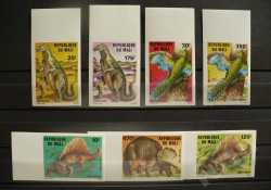 Mali, Prehistoric animals, 1984, 7 stamps (imperf.)