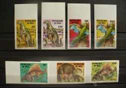 Mali, Prehistoric animals, 1984, 7stamps (imperf.)