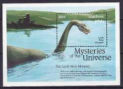 Prehistoric animals, Maldives, 1992, 1stamp
