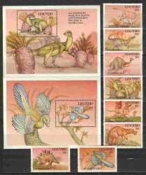 Prehistoric animals, Lesotho, 1992, 10stamps