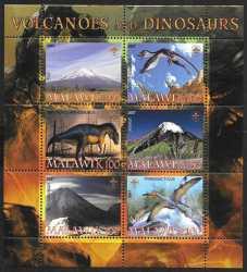 Malawi, Prehistoric animals, 2007, 6stamps