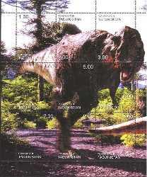 Prehistoric animals, Tajikistan, 1999, 9stamps